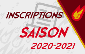 INSCRIPTIONS 2021 !!